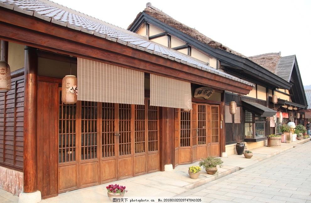 日式建筑 唐代建筑 古建筑 木屋 木窗 拈花湾 灵山小镇 摄影