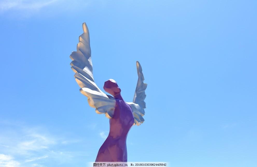 大梅沙鸟人 雕塑 雕像 深圳 羽翼人 巨人 鸟人 银色翅膀 大梅沙海滩