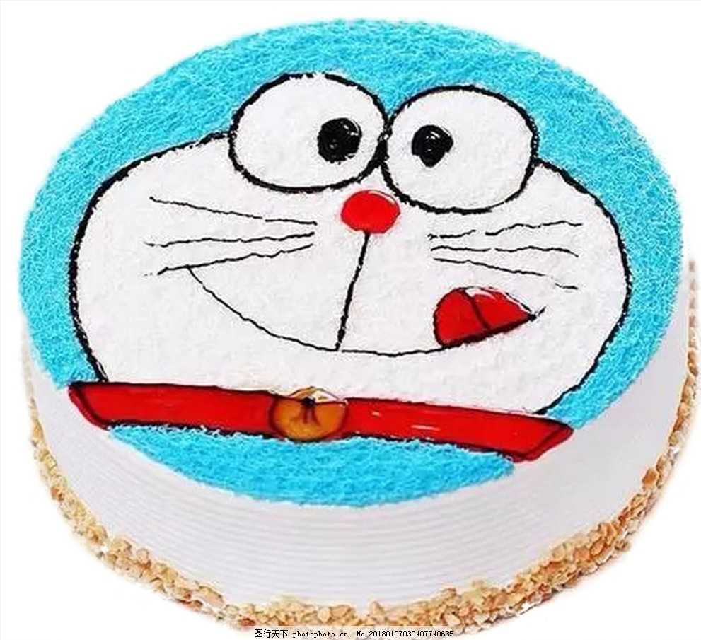 儿童蛋糕 水果 奶油 生日蛋糕 卡通 卡通蛋糕 叮当猫