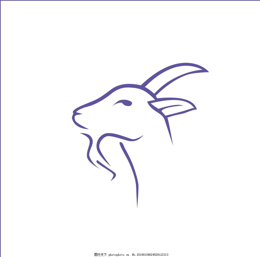 羊头可爱简笔画