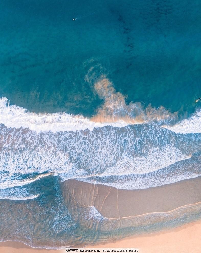 海面俯视图 沙滩 海水 波浪 大海 海面高清图 客厅装饰画 装饰画素材