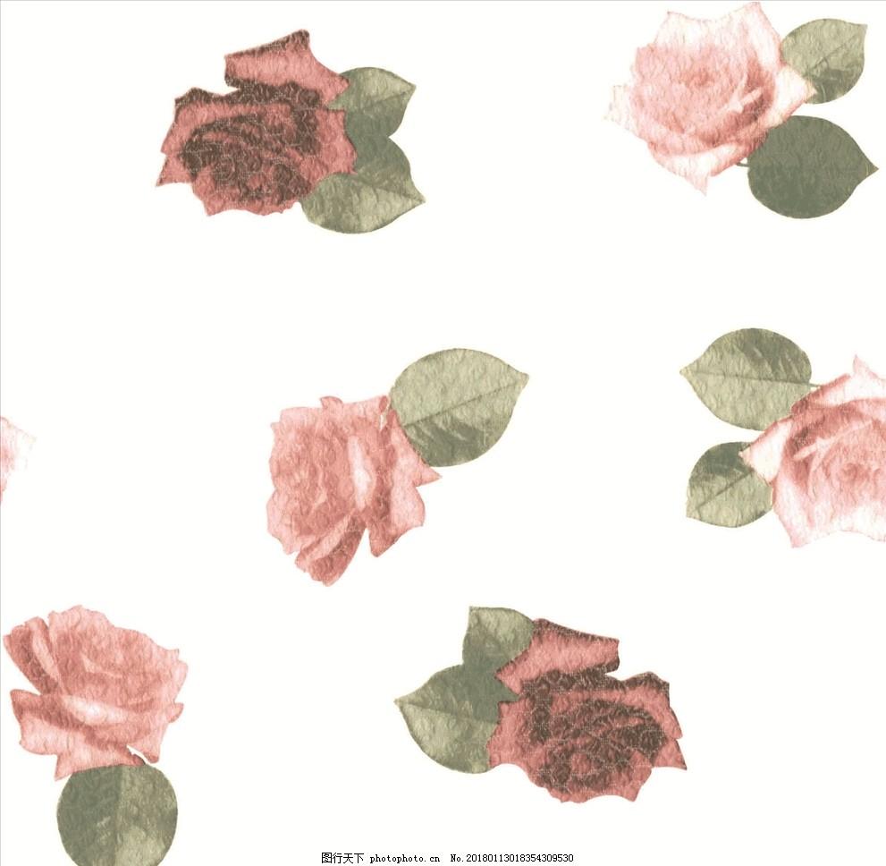 设计图库 动漫卡通 动漫人物  女装花卉花型白底红花 白底 红花 植物