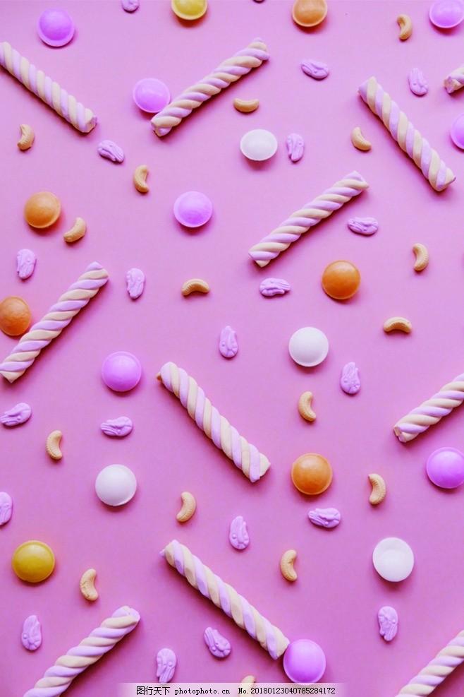 粉色糖果背景 粉色 棉花糖 糖果 背景图 唯美 摄影 餐饮美食 其他 72