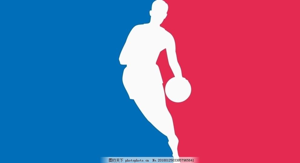 nba标志 篮球运动 篮球标志 联盟标志 打篮球 蓝红 图片素材