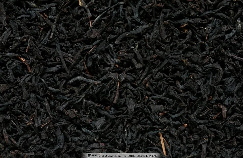 茶叶摄影图 茶叶 茶 摄影 高清 特写 桌面 背景 素材 烘干 黑色 摄影