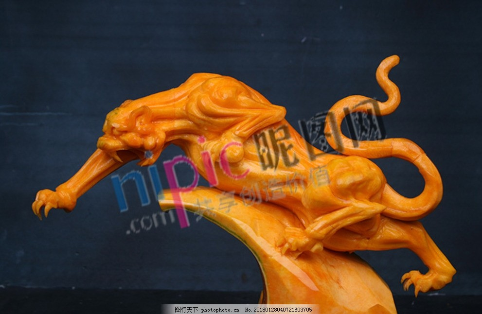 食品雕刻动物艺术
