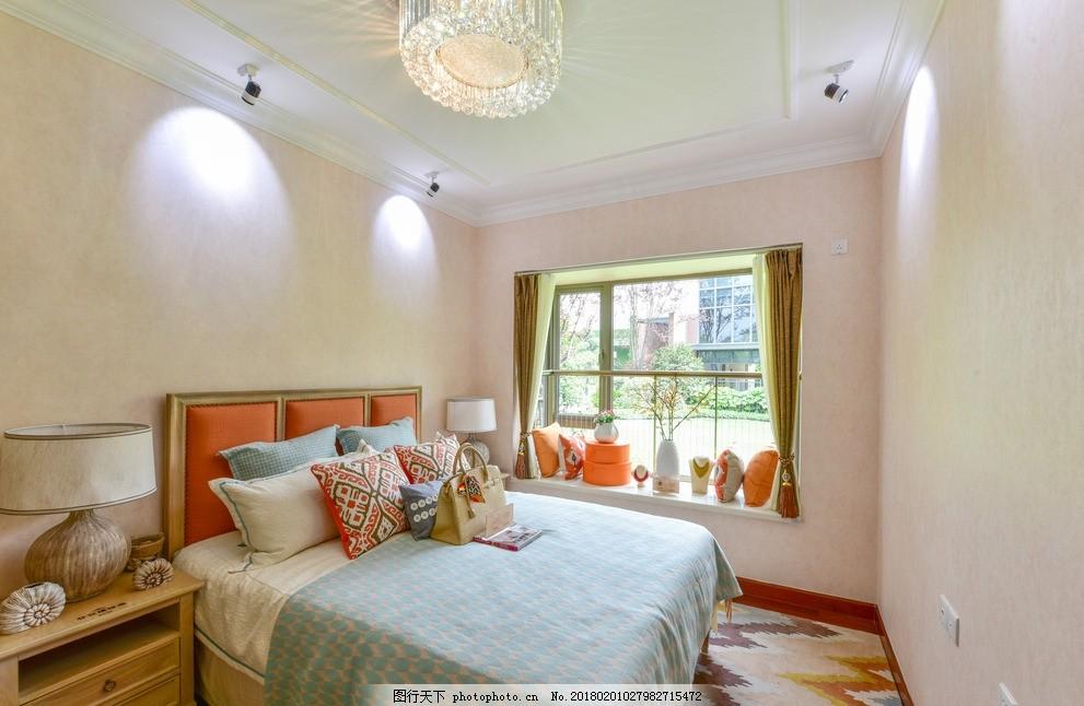 卧室效果图 卧室设计 卧室渲染 卫生间 欧式风格 中式风格 现代风格