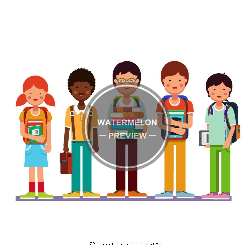 孩子 男孩 女孩 学生 小朋友 探险 郊游 打扫卫生 学校 学习 可爱